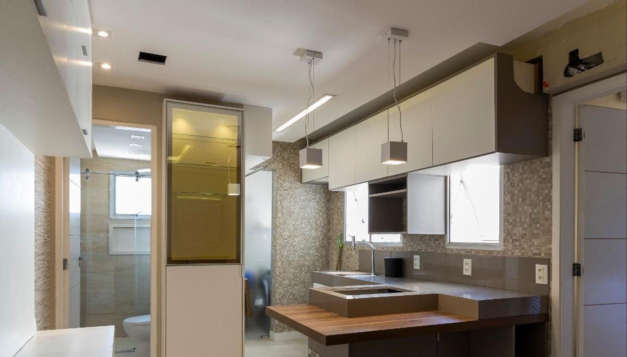 Foto de Cozinha com vaso sanitário