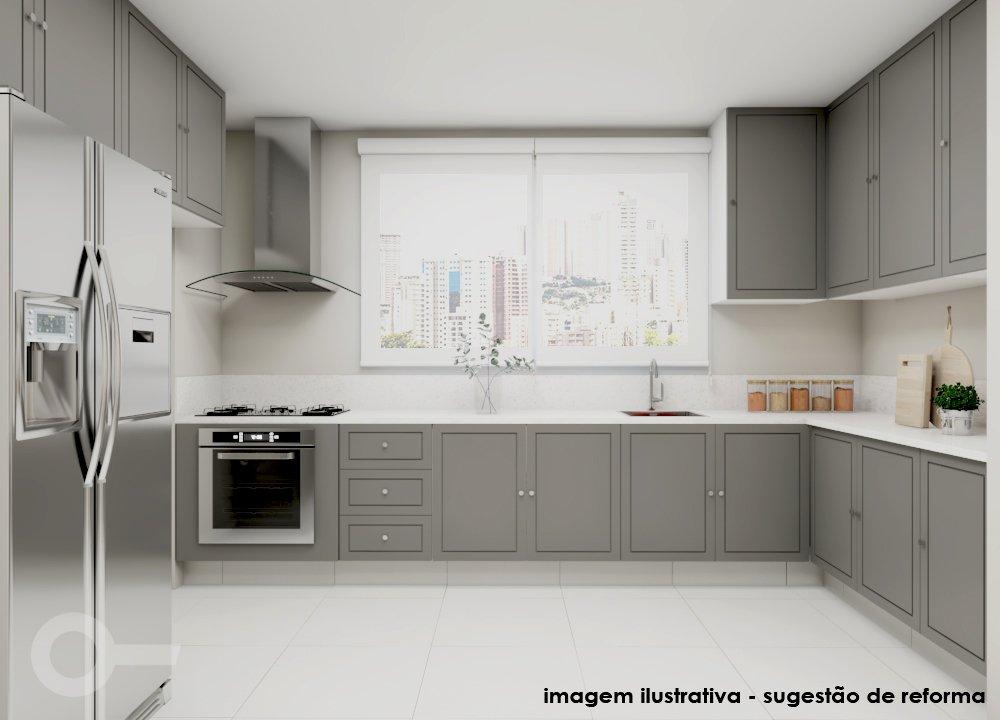 Foto de Cozinha com vaso de planta, vaso, forno, geladeira, pia
