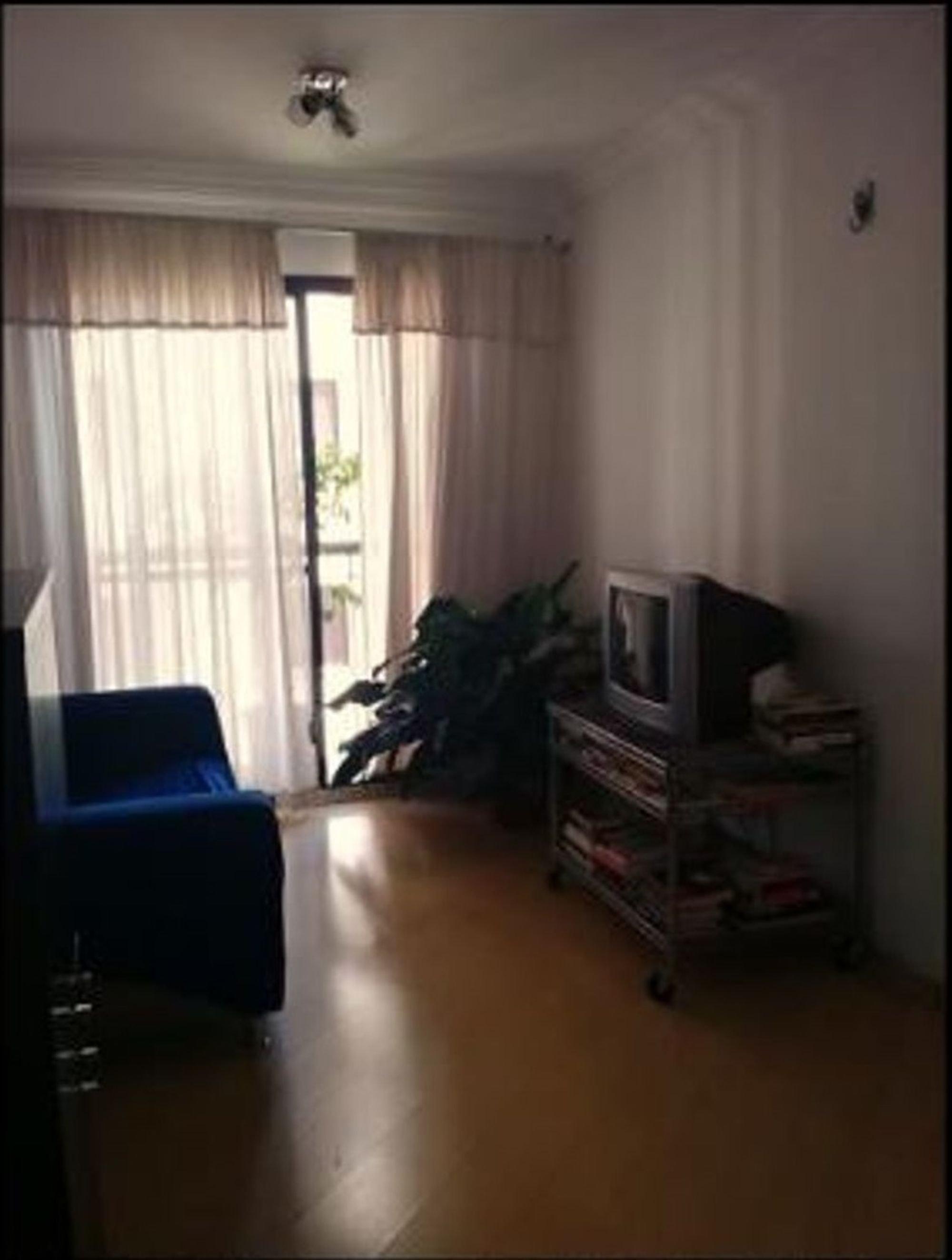 Foto de Sala com vaso de planta, televisão, cadeira