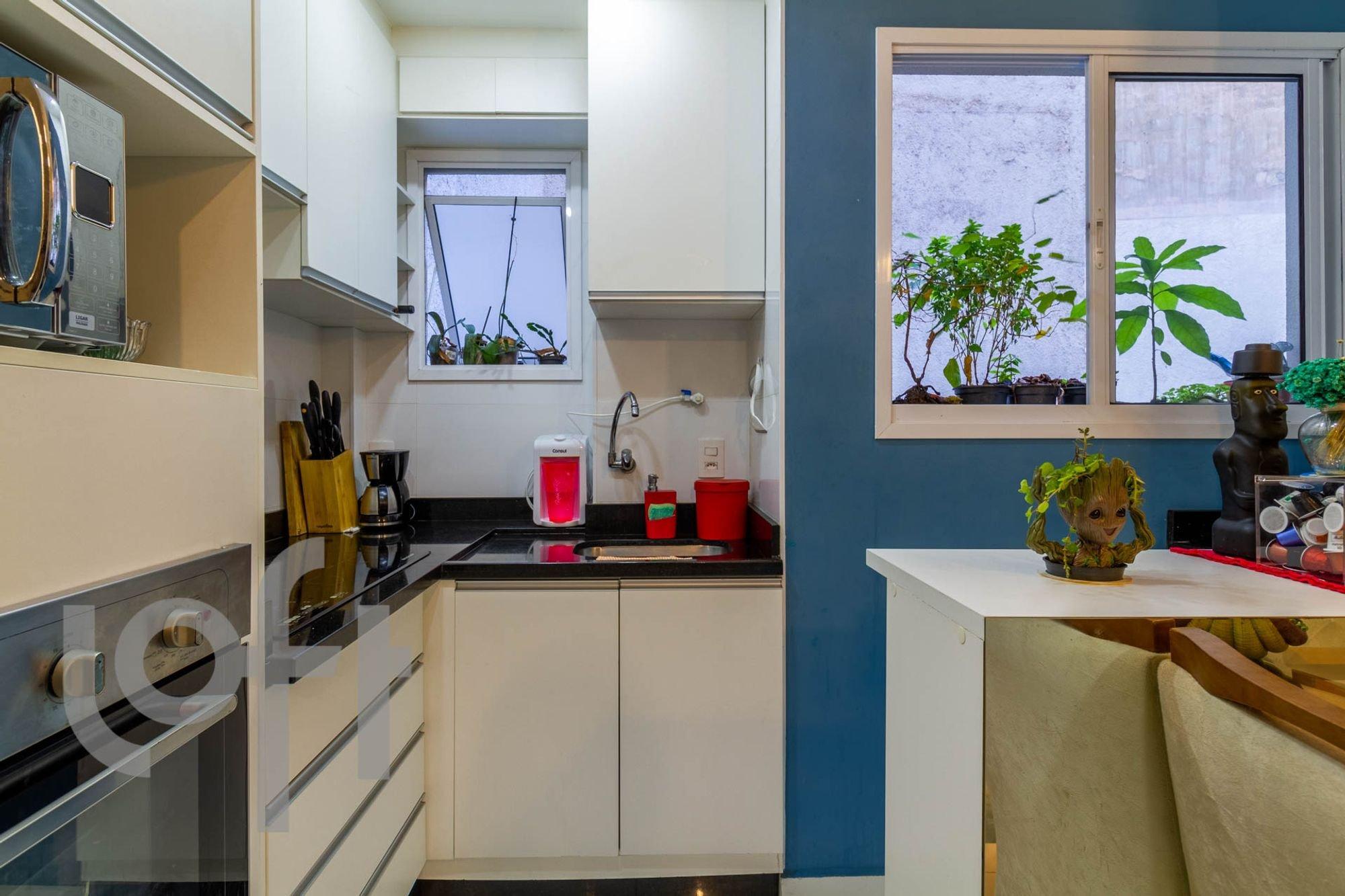 Foto de Cozinha com vaso de planta, faca, vaso, garrafa