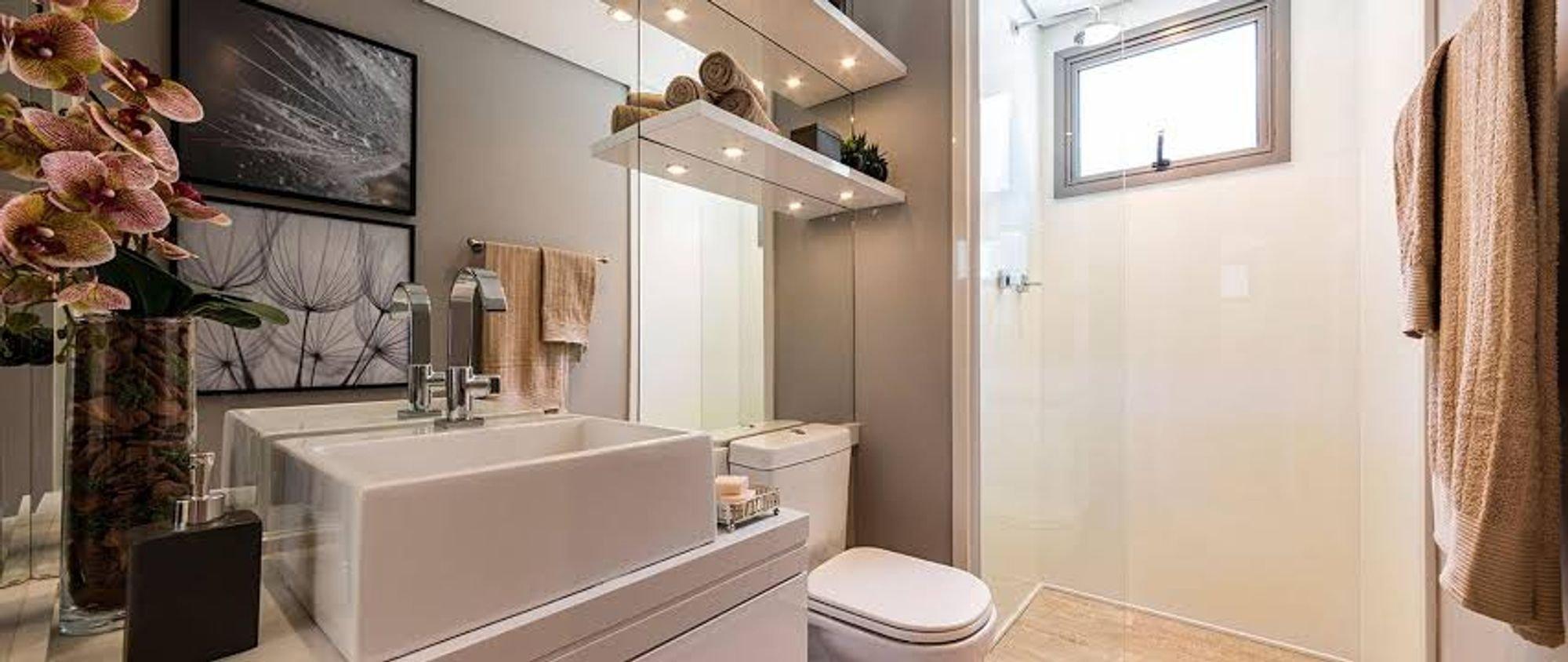 Foto de Banheiro com vaso