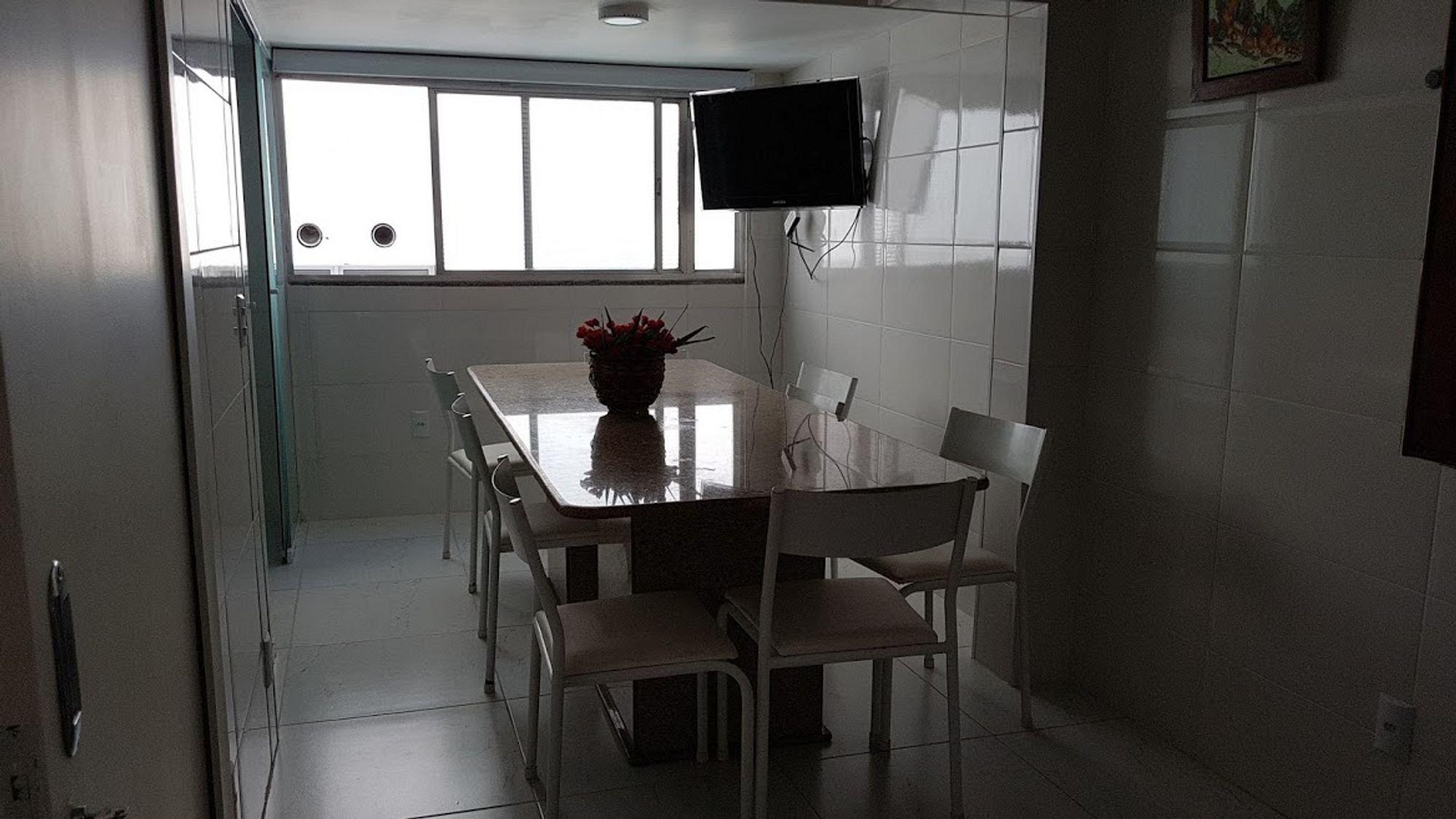 Foto de Lavanderia com vaso de planta, televisão, vaso, cadeira