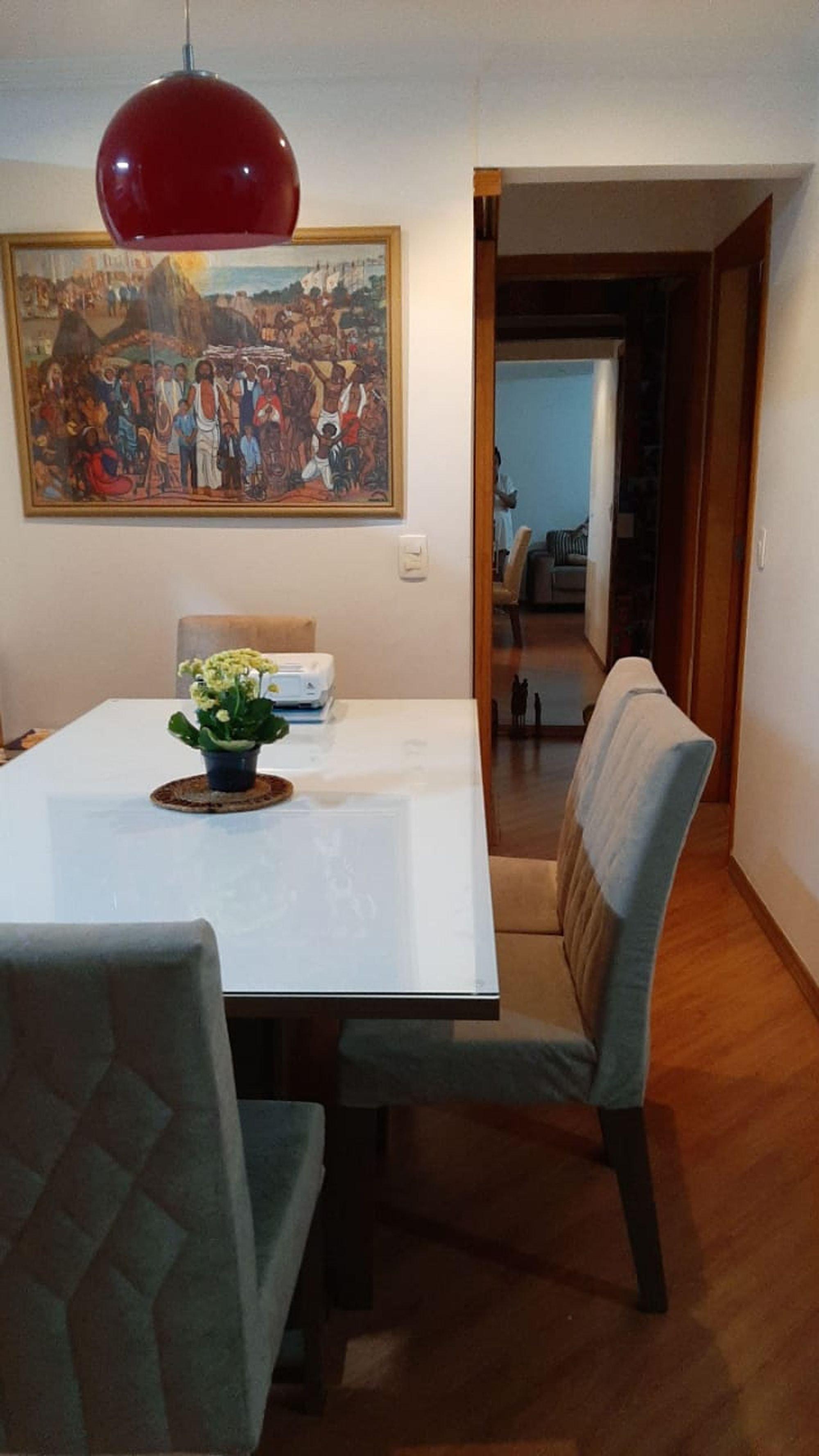 Foto de Sala com vaso de planta, cadeira, mesa de jantar